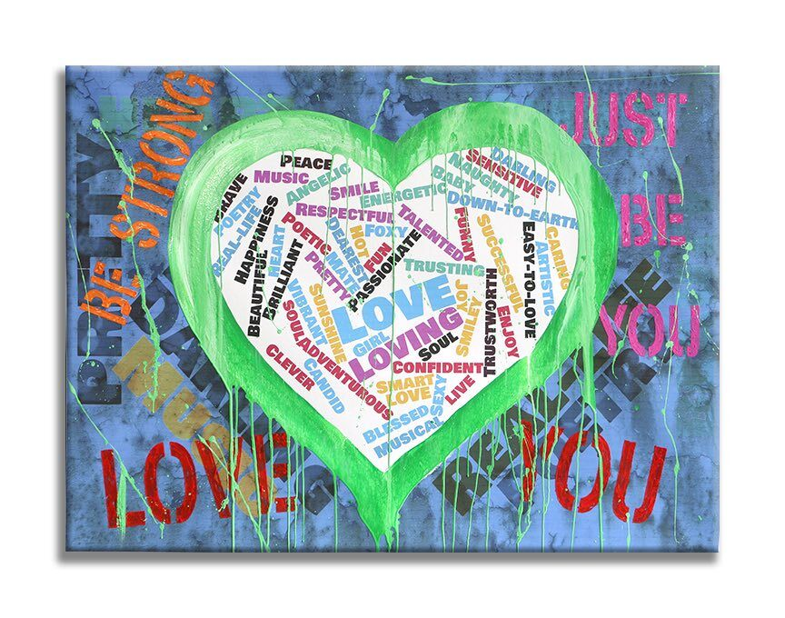 Love You Original Painting On Canvas
